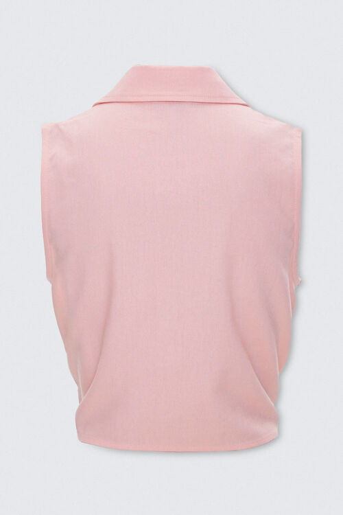 Self-Tie Cropped Shirt, image 3