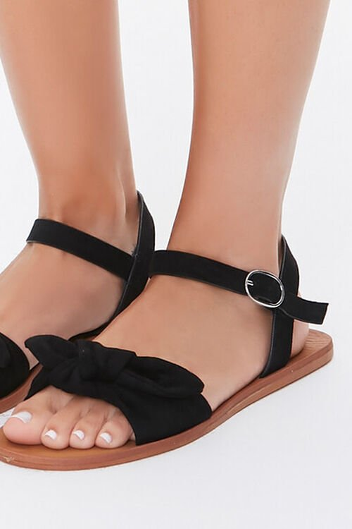 Faux Suede Knotted Sandals, image 5