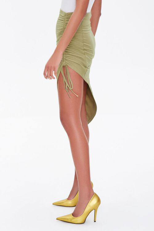 Ruched High-Low Skirt, image 3