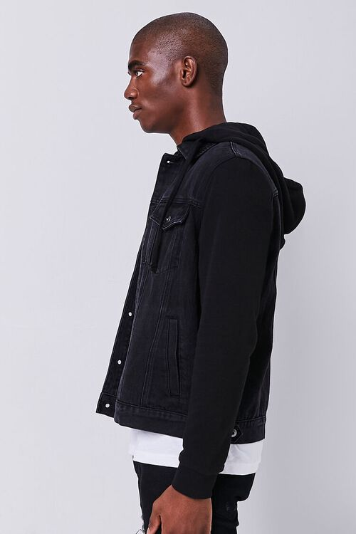 Contrast Hooded Denim Jacket, image 2