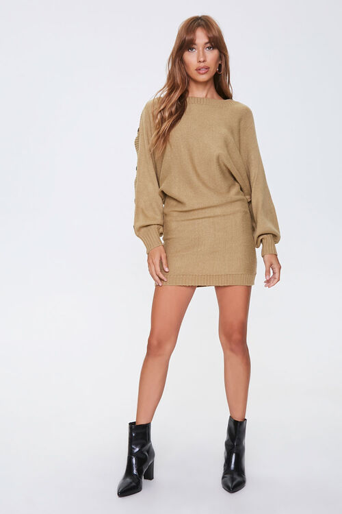 Button-Trim Sweater Dress, image 4