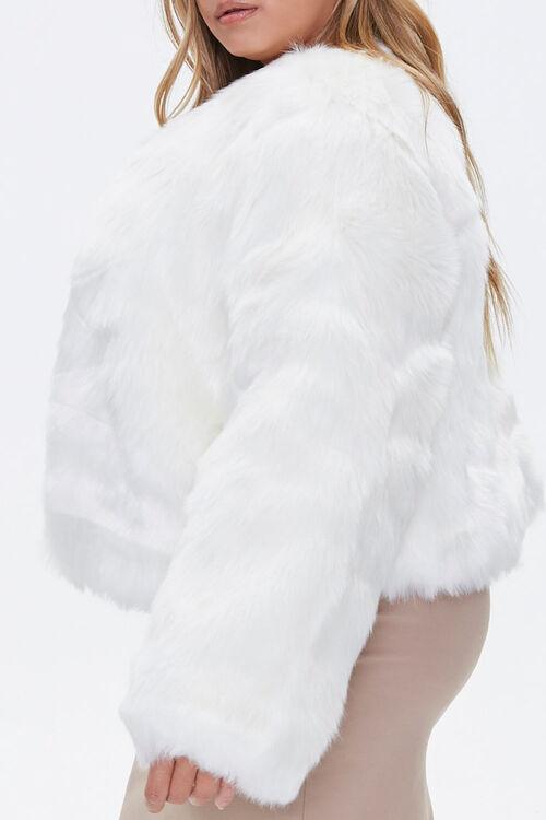 Plus Size Faux Fur Open-Front Jacket, image 2