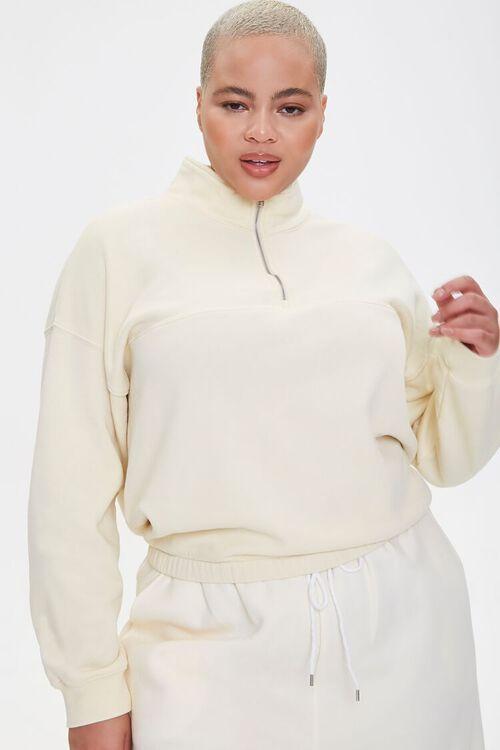 Plus Size Half-Zip Pullover, image 1