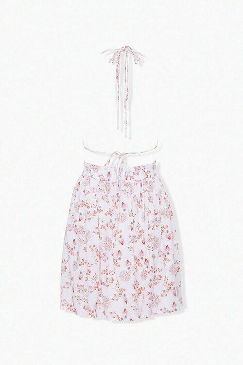 CREAM/MULTI Crinkled Floral Halter Dress, image 3