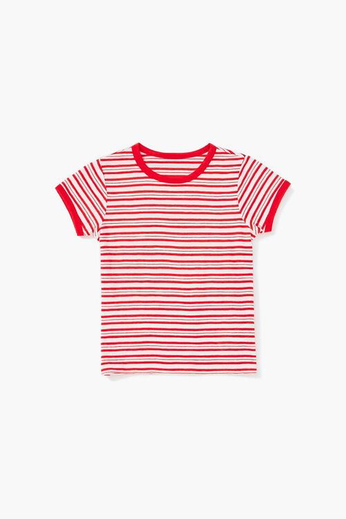 Girls Striped Ringer Tee (Kids), image 1