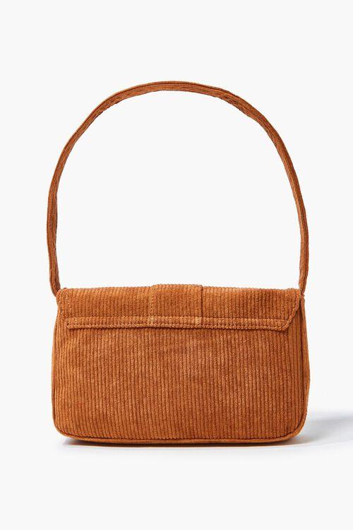 BROWN Corduroy Shoulder Bag, image 3