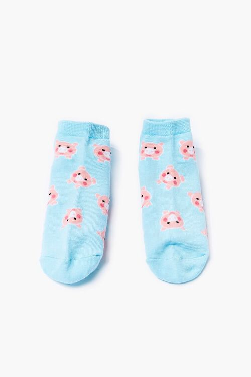 Pig Print Ankle Socks, image 1