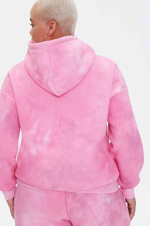 PINK/MULTI Plus Size Tie-Dye Barbie™ Hoodie, image 4