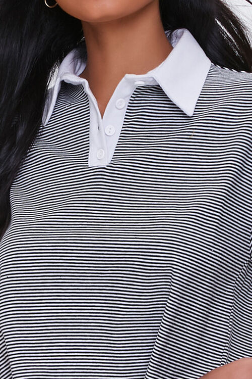 Striped Drop-Sleeve Rugby Shirt, image 5