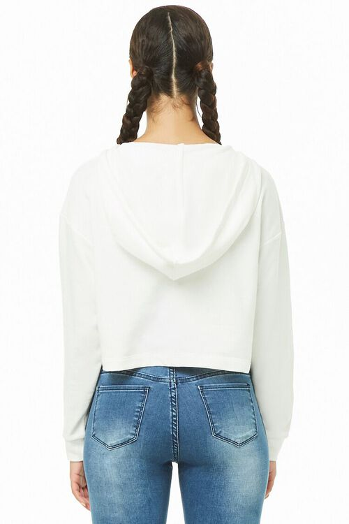 CREAM Cropped Hooded Pullover, image 3