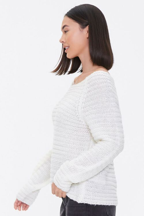 Open-Knit Boat Neck Sweater, image 2