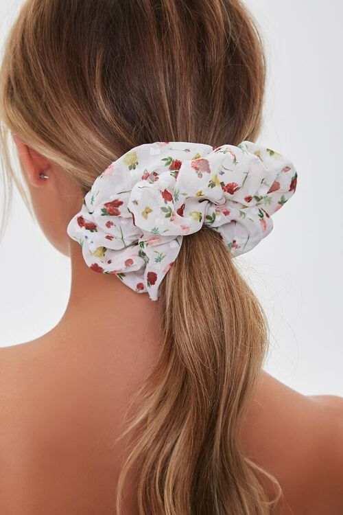 Floral Butterfly Print Scrunchie, image 2