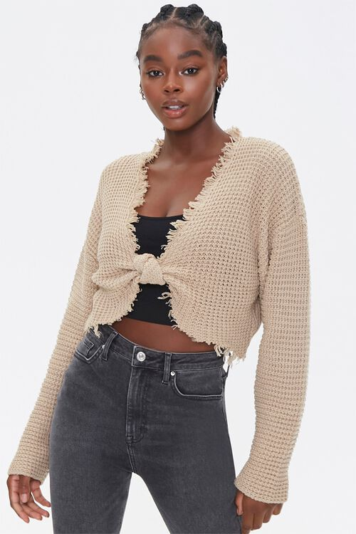 Ribbed Cropped Sweater, image 1