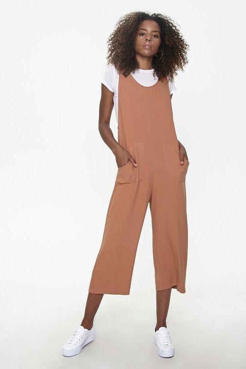 Sleeveless Linen-Blend Jumpsuit, image 4