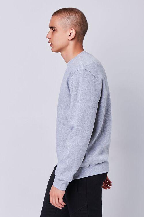 Heathered Fleece Crew Neck Sweatshirt, image 2