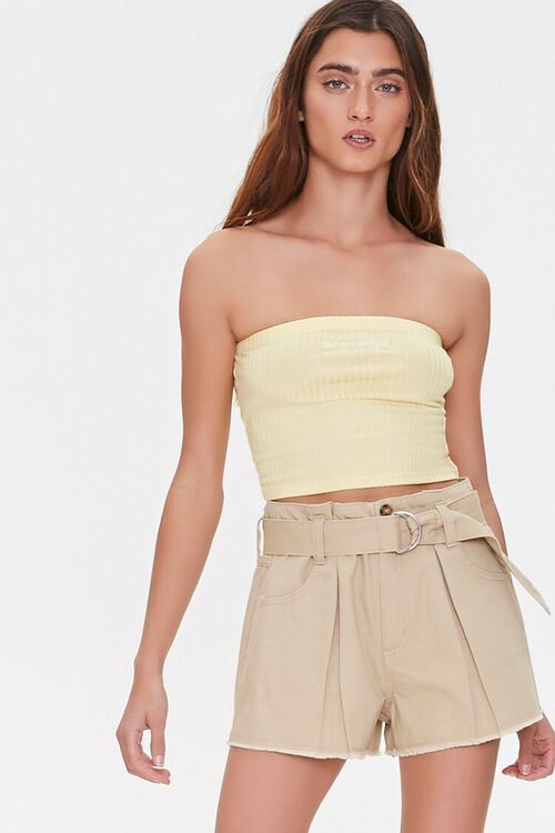 Pleated High-Rise Shorts, image 1
