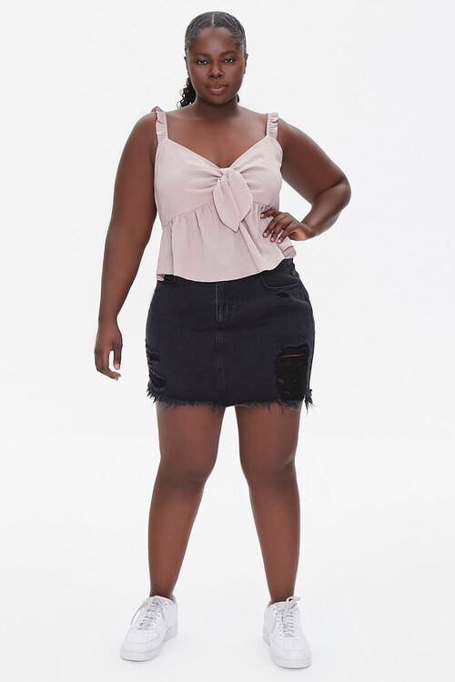 Plus Size Knotted Flounce Top, image 4