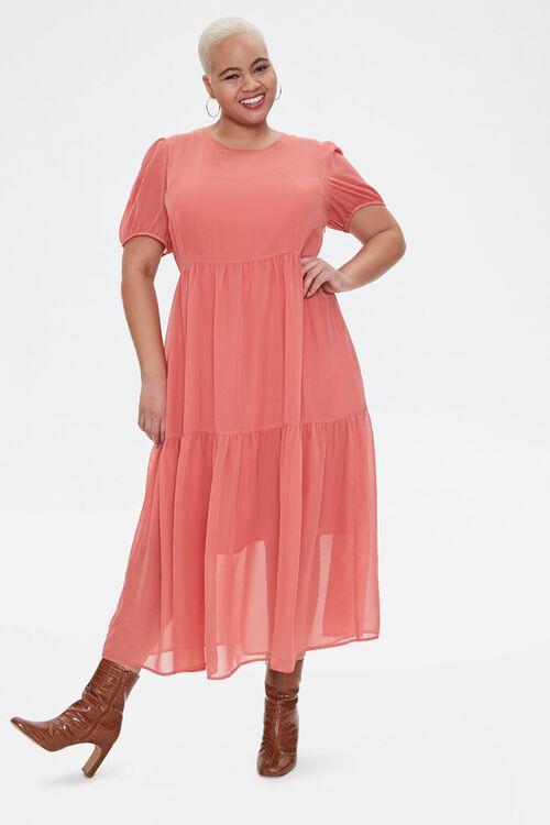 Plus Size Tiered Midi Dress, image 2