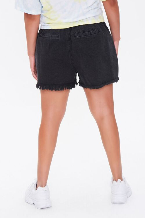 Plus Size Denim Paperbag Shorts, image 4