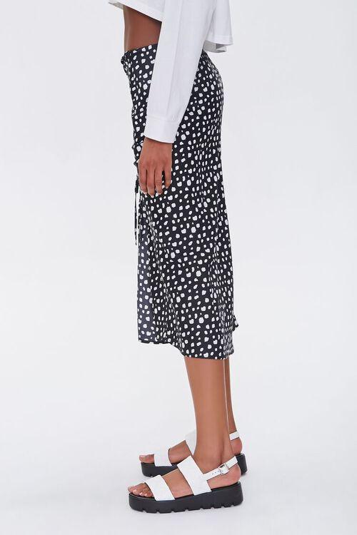 Satin Spotted Print Skirt, image 2