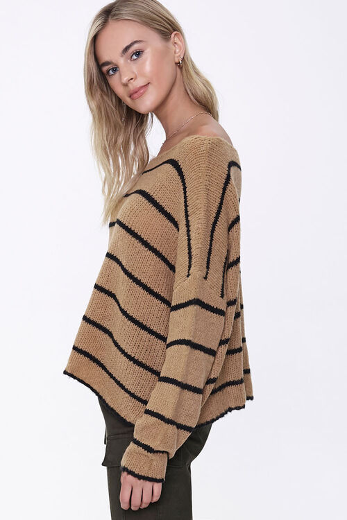 Striped Off-the-Shoulder Sweater, image 2