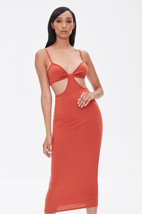 Cutout Cami Midi Dress, image 1
