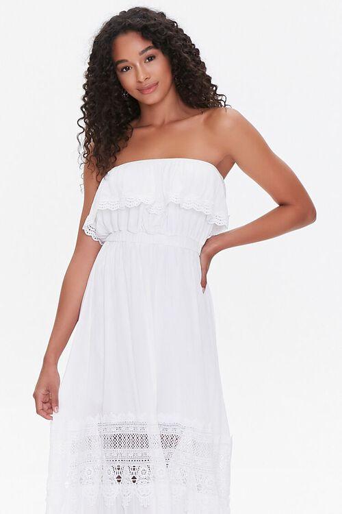 Lace-Trim Maxi Dress, image 4