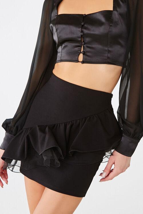 Tiered Flounce Mini Skirt, image 1
