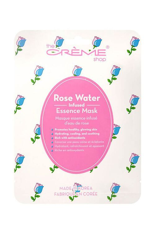 WHITE/MULTI The Crème Shop Rose Water Face Mask, image 1