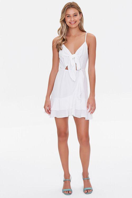 Knotted Cutout Flounce Dress, image 4