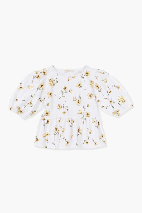 Girls Floral Print Top (Kids), image 1