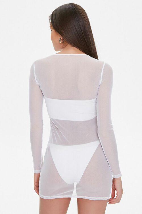 Sheer Mesh Swim Cover-Up Dress, image 4