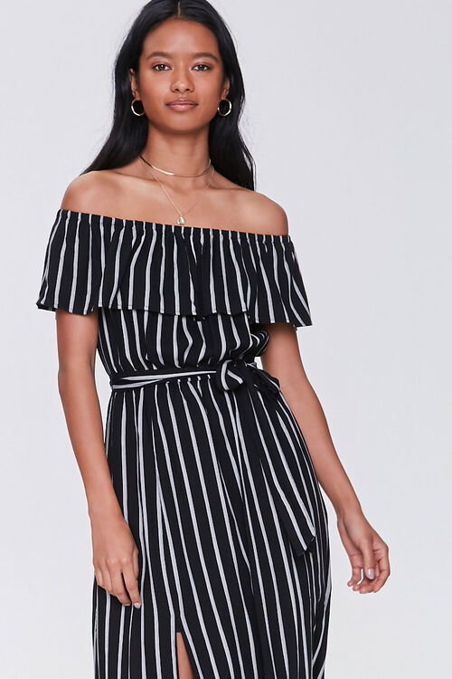 Striped M-Slit Maxi Dress, image 4