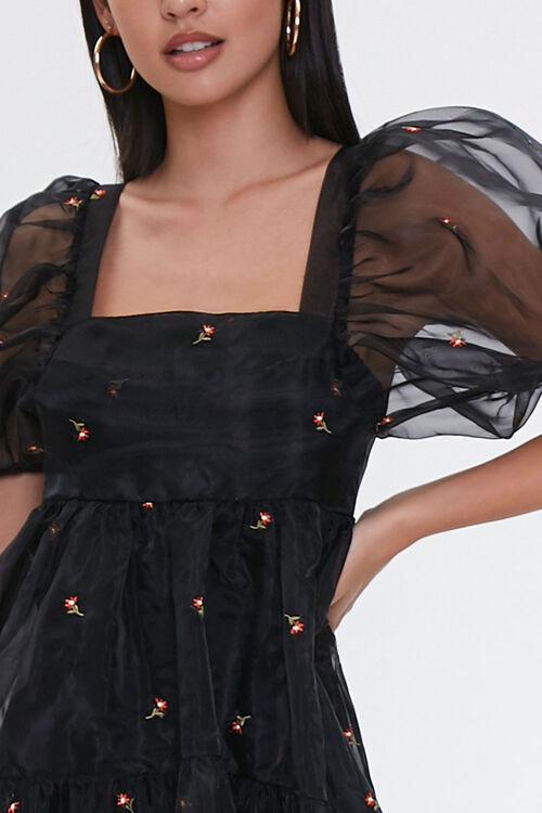 Sheer Floral Embroidered Dress, image 5