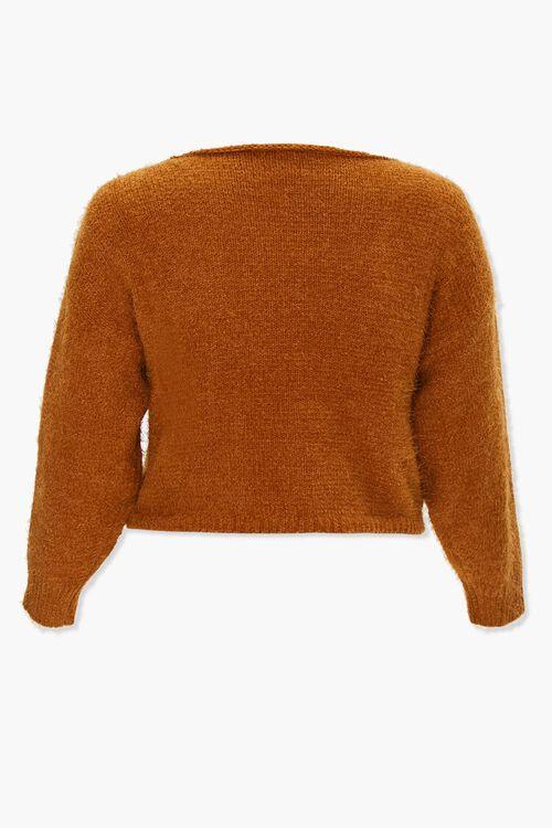 Plus Size Fuzzy Knit Sweater, image 3