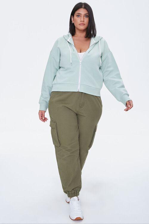 Plus Size Fleece Zip-Up Hoodie, image 4