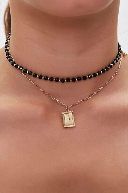 Rhinestone Pendant Necklace Set, image 1