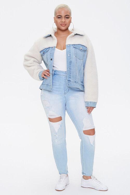 Plus Size Denim Combo Jacket, image 4