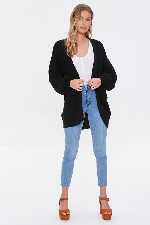 Open-Front Cardigan Sweater, image 4