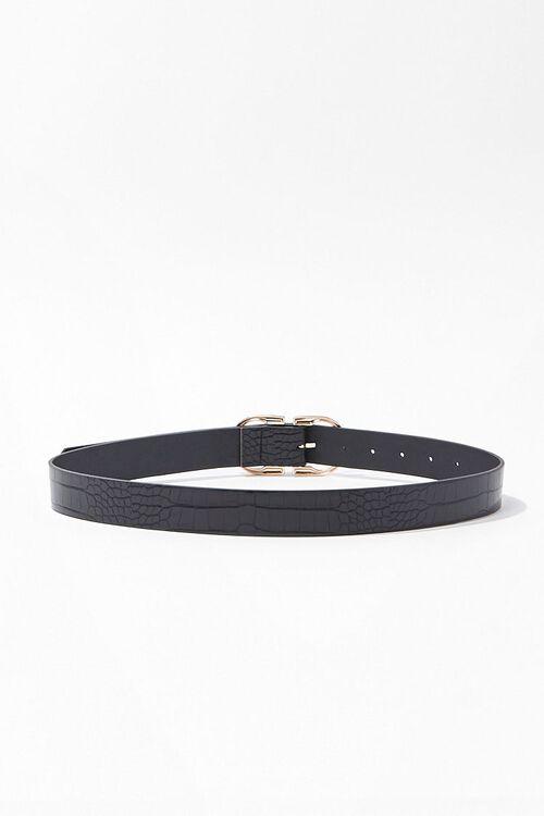 Faux Croc Leather Waist Belt, image 2