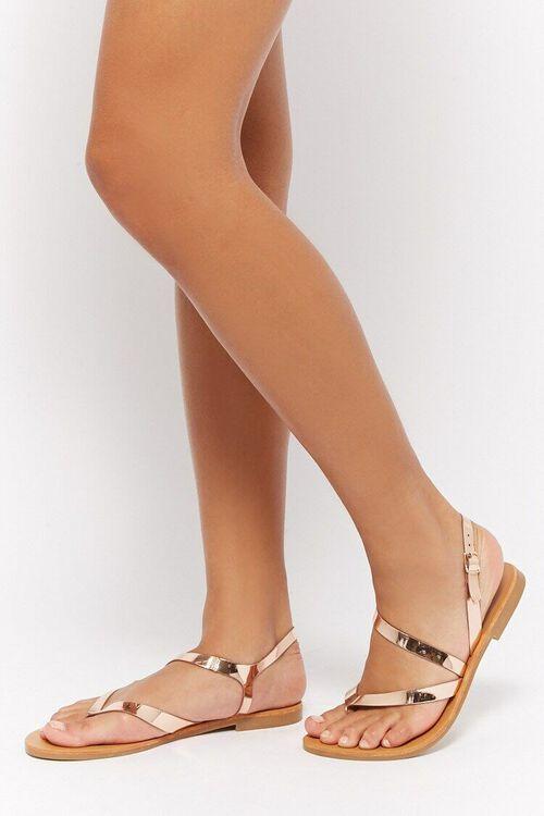 Metallic Flat Sandals, image 1
