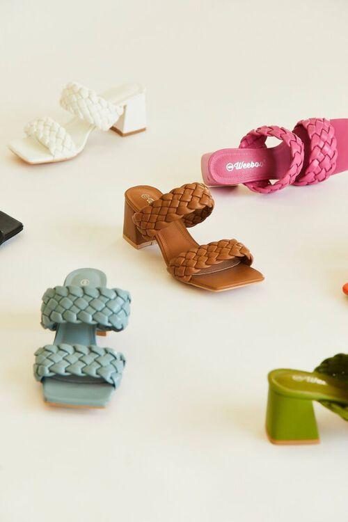 Braided Square-Toe Block Heels, image 1