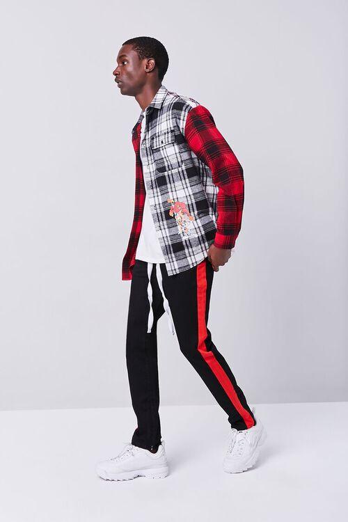 BLACK/RED Premium Side-Striped Jeans, image 1