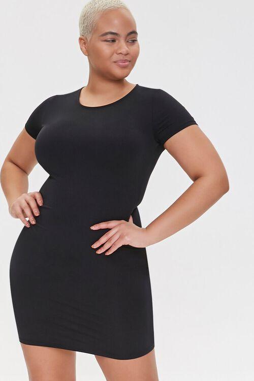 Plus Size T-Shirt Bodycon Dress, image 1