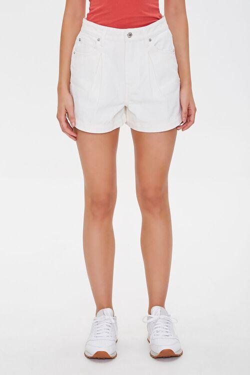 Pleated Denim Shorts, image 2