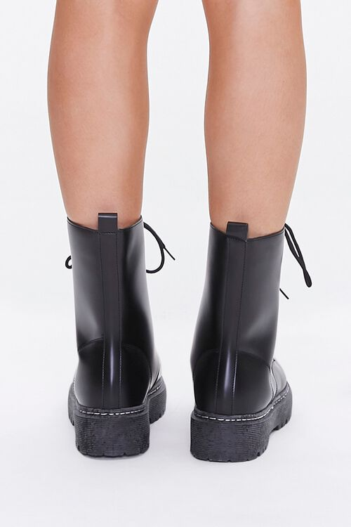 Faux Leather Combat Boots, image 3