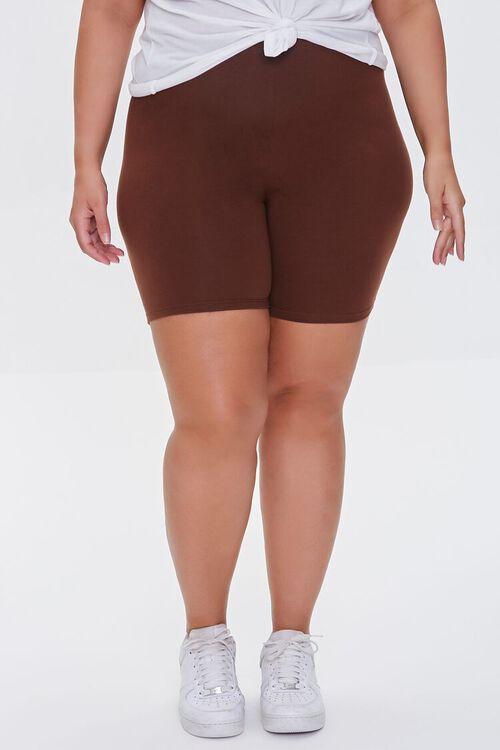 Plus Size Organically Grown Cotton Biker Shorts, image 2
