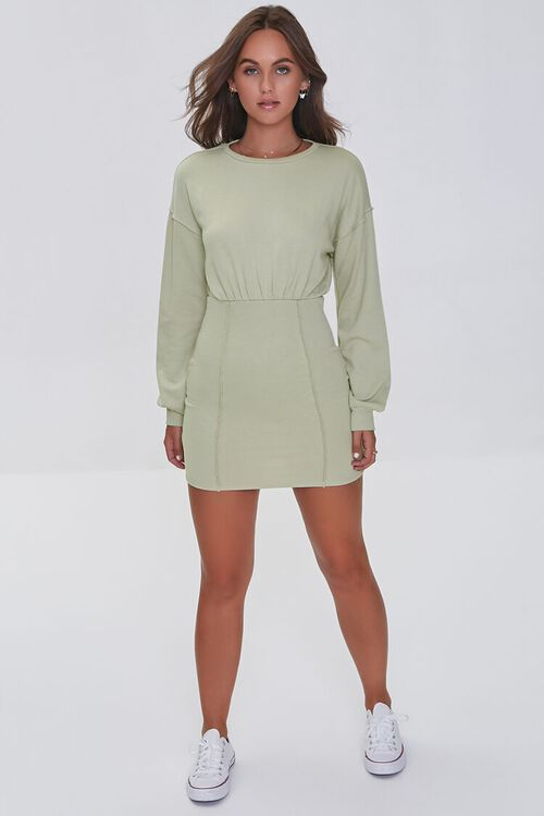 SAND French Terry Mini Dress, image 4