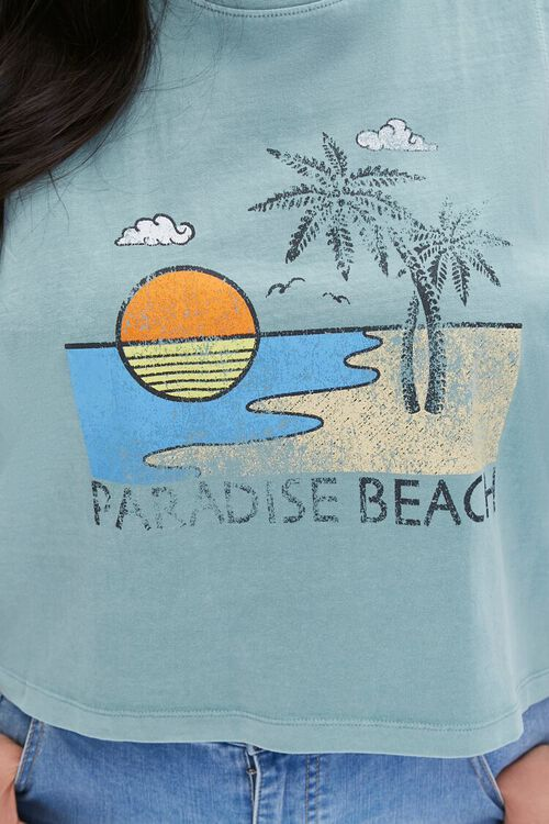 Plus Size Paradise Beach Muscle Tee, image 5