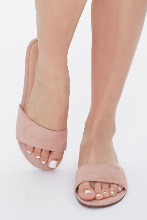 Faux Suede Slip-On Sandals, image 4